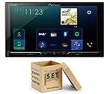 Pioneer Radio SPH-DA230DAB 2DIN Apple CarPlay Waze mit Antenne + Einbauset für Audi A4 (B7/8E) 2004-2008 schwarz auf Bose