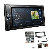 Pioneer DMH-G220BT 2-DIN Autoradio Mediacenter Bluetooth USB AUX passend für Porsche Cayenne 2002-2010 schwarz