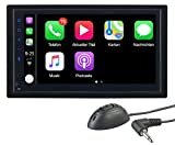 CREASONO Carplay Radio: 2-DIN-Autoradio mit Freisprechfunktion, Apple CarPlay, 17,1-cm-Display (Autoradio iPhone)