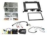 Autoradio Einbauset geeignet für VW Crafter inkl. Lenkrad Fernbedienung Adapter & Doppel-DIN Blende in Schwarz