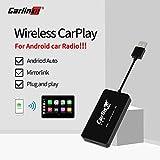 Carlinkit Wireless USB Carplay Dongle Kompatibel Android Autoradio, Unterstützung Funktion Carplay/Android Auto/Mirroring Screen/iOS13/Bluetooth, Nicht unterstütztes Factory Carplay Car