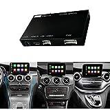 Road Top Umbaukit Decoder mit drahtlosem Apple Carplay Android Auto und Spiegelung, geeignet für Mercedes-Benz GLC C V A B Serie W205 W246 W447 X156 C117 X253 C253 2015-2018 Jahr und 12 PCS Car Tools