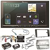 Pioneer SPH-DA230DAB Bluetooth Digitalradio Carplay Android Auto USB MP3 Autoradio Einbauset für Audi A3 8P 8PA