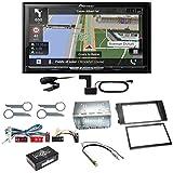 Pioneer AVIC-Z820DAB Bluetooth Carplay Android Auto Navigation Autoradio Touchscreen Naviceiver Freisprecheinrichtung Digitalradio USB FLAC Einbauset für Audi A6 4B