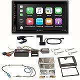 XZENT X-522 Bluetooth USB MP3 Autoradio DAB+ Digitalradio Freisprecheinrichtung Android Auto CarPlay Einbauset kompatibel mit Audi TT 8J