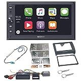 Sony XAV-AX100 2-DIN Autoradio mit Bluetooth Freisprecheinrichtung Android Auto Apple CarPlay USB MP3 Einbauset Audi TT 8J