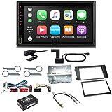 XZENT X-522 Bluetooth USB MP3 Autoradio DAB+ Digitalradio Freisprecheinrichtung Android Auto CarPlay Einbauset kompatibel mit Audi A6 4B