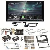 Kenwood DMX-8019DABS Carplay Android Auto Digitalradio DAB+ Bluetooth Freisprecheinrichtung DMX8019DABS USB MP3 Autoradio 2-DIN Moniceiver Einbauset für Audi TT 8J