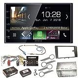 Kenwood DMX-7018BTS CarPlay Android Auto Bluetooth Autoradio Moniceiver Touchscreen USB MP3 Einbauset für Audi A3 8P 8PA