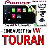 Pioneer SPH-DA120-2DIN USB Bluetooth Apple CarPlay Autoradio - Einbauset für Audi A4 B7 - JUST SOUND best choice for caraudio