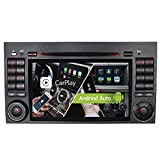 7' Android 10 Dual-Tuner 2+32GB Radio Carplay+Android Auto Bluetooth 5.0 Rohm-DSP Autoradio DVD GPS für Mercedes Benz A/B Klasse W169 W245 VITO Viano GPS Navigation Radio DAB+ OBD2 4G LTE WiFi