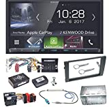 Kenwood DMX-7017BTS Bluetooth Carplay Android Auto USB MP3 Autoradio Einbauset für Audi A4 B7 Seat Exeo