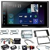Pioneer SPH-DA130DAB Autoradio CarPlay Bluetooth USB Digitalradio DAB+ Einbauset für Audi A6 4B Facelift