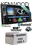 Kenwood DNX5160DABS - 2DIN Navigation | Bluetooth | DVD | Apple CarPlay | DAB+ Digitalradio USB CD MP3 Autoradio - Einbauset für Skoda Fabia 2 - JUST SOUND best choice for caraudio