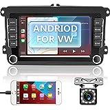Autoradio Wireless Carplay & Android Auto mit Navi,Android 10.0 Autoradio Doppel Din Bluetooth RüCkfahrkamera 7 Inch Bildschirm Car Radio Freisprecheinrichtung USB Touchscreen WiFi/GPS/BT